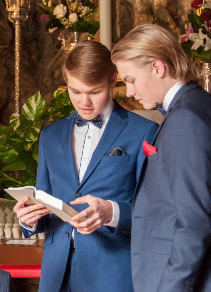 boys in church